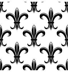 Classic fleur de lys seamless tracery pattern vector image
