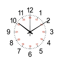 clock isolated on white vector image