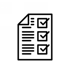 completed tasks icon vector image
