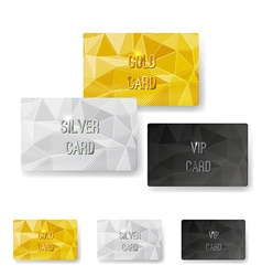 Crystal pattern structure premium card set vector image