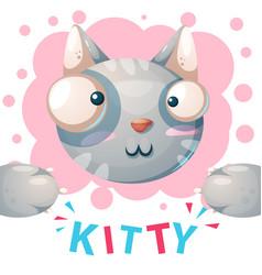 cute kitty cat characters - cartoon vector image