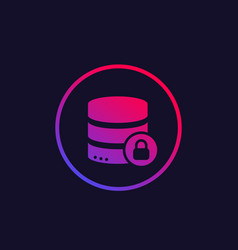 Database security icon vector
