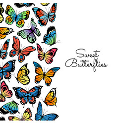 decorative butterflies background vector image