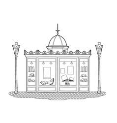 Drawing newsstand vector