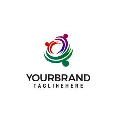 family care logo design concept template vector image