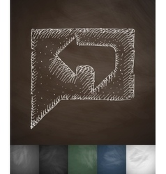 feedback icon Hand drawn vector image