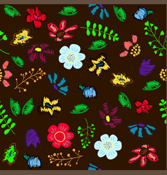floral garden holiday for day of the vector image