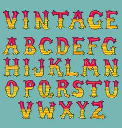Hand drawn vintage alphabet set vector