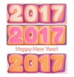 Happy New Year 2017 scoreboard vector image