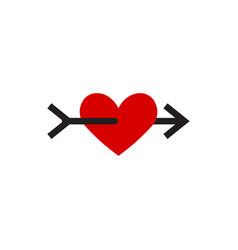 heart icon graphic design template vector image