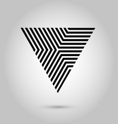 Hipster triangle background poster with vector