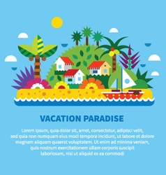 House on island in tropics vector image