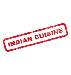 Indian Cuisine Text Rubber Stamp vector