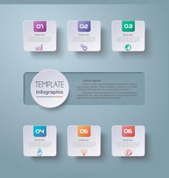 infographics timeline vector image