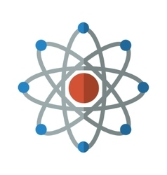 isolated atom science vector image vector image