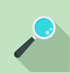 lab magnify glass icon flat style vector image