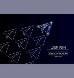 Leader concept geometric polygonal art vector