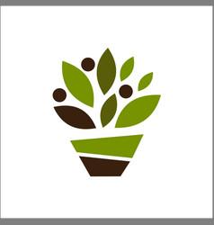 leaf ecology abstract emblem design concept vector image