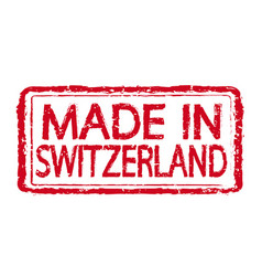 made in switzerland stamp text vector image