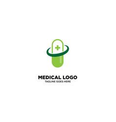Medical clinic logo template vector