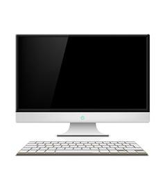 Monitor and keyboard vector