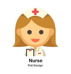 Nurse flat vector