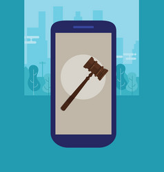 Online mobile legal advice consultation smart vector
