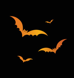 orange glitter halloween design element bat vector image