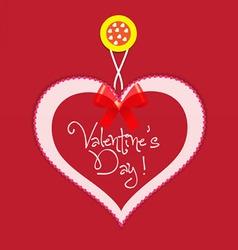 original valentine card vector image vector image