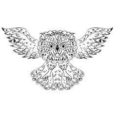 Ornamental Owl vector image