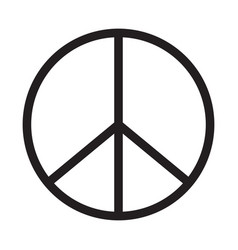Peace icon on white background peace sign vector