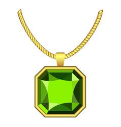 Peridot jewelry icon realistic style vector