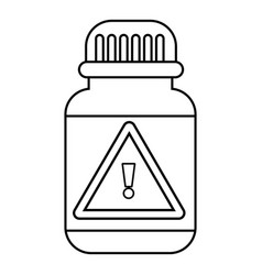 poison insects icon outline line style vector image