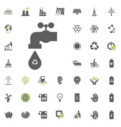 recycled water icon eco and alternative energy vector image