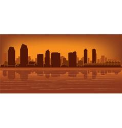 San diego skyline vector