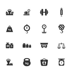 Scales icons set vector