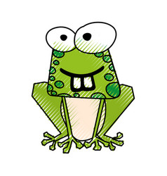 Scribble funny toad cartoon vector