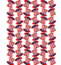 Seamless background with american symbols vector image