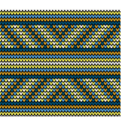 seamless golden lines knitting pattern vector image