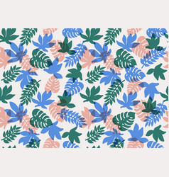 seamless tropical pattern tropical plants and vector image
