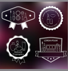 set cosmetic and makeup labels badges logos vector image