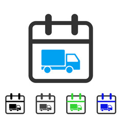 Shipping day flat icon vector