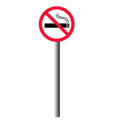 Signposts no smoking vector