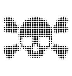 skull crossbones halftone icon vector image