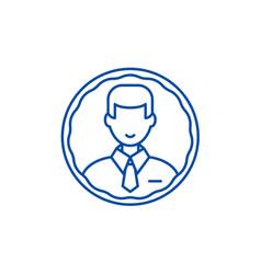 staff profile line icon concept staff profile vector image