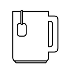 tea cup isolated icon vector image