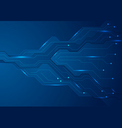 tech dark blue futuristic abstract background vector image