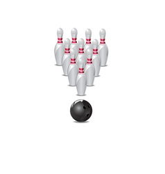 ten pin bowling icon vector image