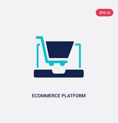 Two color ecommerce platform icon from general-1 vector