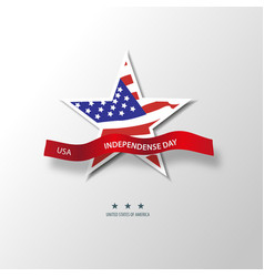united states of america 4th of july vector image